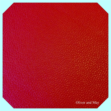 Red Leatherette Sheet - A4 Size Red Faux Leather Fabric Sheet