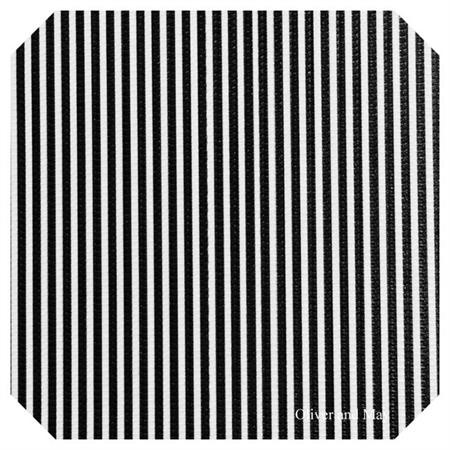 Black White Stripe Leatherette Sheet - A4 Size Faux Leather Fabric