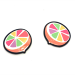 4pcs - Flatback Resin Cabochon Embellishment - Orange