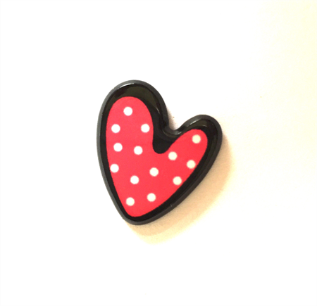 6pcs - Flatback Resin Cabochon Embellishment - Heart