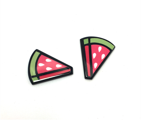 4pcs - Flatback Resin Cabochon Embellishment - Watermelon