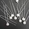 10 PEARL BRIDAL HAIR PINS (Imitation)