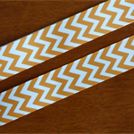 CHEVRON GROSGRAIN RIBBON ORANGE   22mm