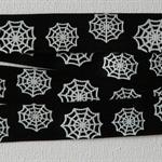 HALLOWEEN SPIDERWEB GROSGRAIN RIBBON BLACK & WHITE  20mm x 3 metres
