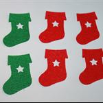 FELT CHRISTMAS STOCKINGS - 6 PACK