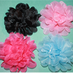 LARGE ORGANZA FLOWERS - 4 PACK