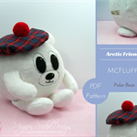 McFluffy Polar Bear ~ Soft Toy Sewing e-Pattern PDF