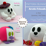 Stuffed Animals, Plushie Pattern, Polar Bear, Seal, Penguin, Stuffed Toys