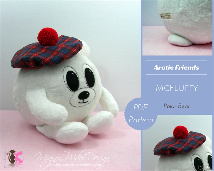 Mcfluffy Polar Bear Soft Toy Sewing E Pattern Pdf Mignon Prider