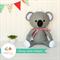 Koala PDF Sewing Pattern Blinky Belle Koala Softie Stuffed Animal Pattern