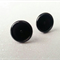10 BLACK Coloured 10mm Cabochon Earring Post Kit & Glass Domes-5Pairs