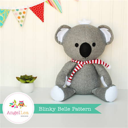 Koala PDF Sewing Pattern Blinky Belle Koala Softie Stuffed Animal Pattern