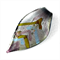Large glass pendant - silver leaf