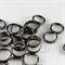 100 x gunmetal jump rings