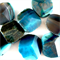 12 x large gemstone beads in turquoise and grey