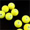 30 x fluro yellow coated beads