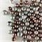 100 x glass pearls - taupe and silver