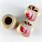 20 x painted rose wood beads