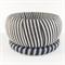 2 x Ribbon wrapped bangles - black and white stripe