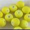 30 x fluro yellow coated beads