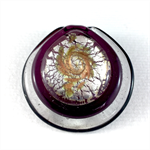 Large glass pendant - purple disk
