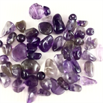 50 x small amethyst chips