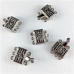 5 x 3-strand metal clasps