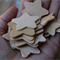 18 Assorted Wood Star Shapes ~ Brooch making ~ Cardmaking ~ Christmas