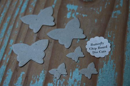 10 Assorted Die Cut Shapes ~ Chip Board Die Cuts