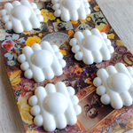 White Daisy vintage buttons (6)