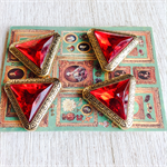 Red vintage buttons (4)