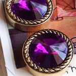 Purple vintage buttons (4)