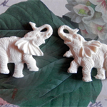 Resin Appliques..Pair of Elephants
