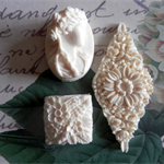Resin Applique..Set, Cameo