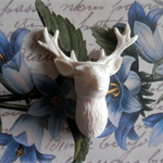 Resin Applique..Deer Head