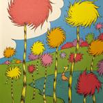 Vintage Dr Seuss book page