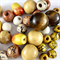 50 x wood beads in yellow, orange and natural colours