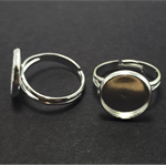Ring Base 12mm Bezel Setting - 10pcs - Silver