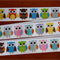 Ribbon Grosgrain Bright Multi coloured Owls 