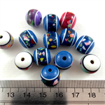 100 x multicoloured 12mm Acrylic beads