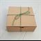 10 Kraft Boxes Corrugated 14x14x5cm
