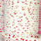 Strawberry print bias (double fold), decorative white lace edge, 12 mtrs ♥
