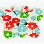 15 Coloured Wooden Patterned Butterflies
