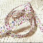 Beautiful vintage retro style bias (magenta, mustard, & pink floral), 4mtrs ♥