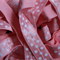 4.8 Metres Shell Pink and White Polka Dot Soft Fold Over Elastic