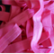 LAST ONE 5 Metres Petal Pink Soft Fold Over Elastic