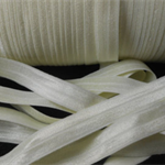 5 Metres Ivory Soft Fold Over Elastic