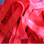 5 Metres Red Soft Fold Over Elastic