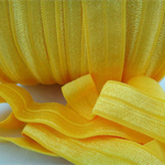 5 Metres Yellow Soft Fold Over Elastic