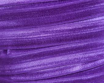 5 Metres Purple Soft Fold Over Elastic
